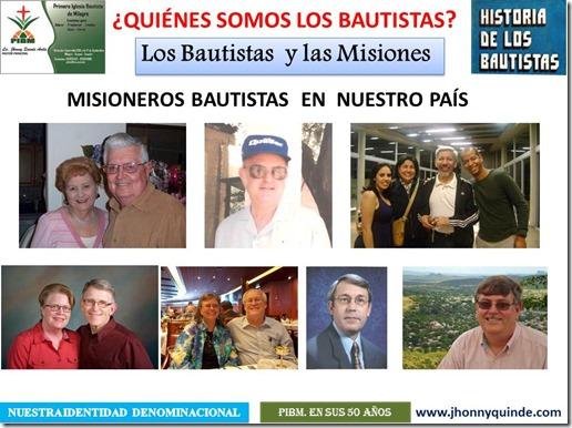 04 LOS BAUTISTAS Y LAS MISIONES Fotos